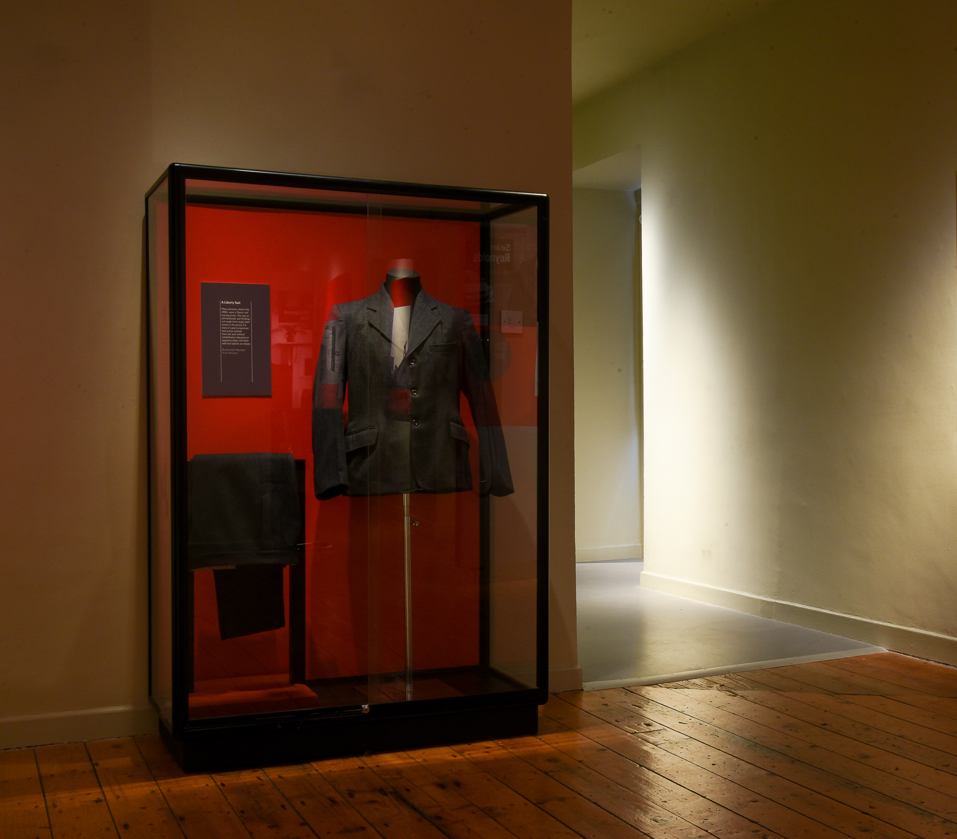 Many of the historical objects, like this 'liberty suit', came from the Mountjoy Prison collection.