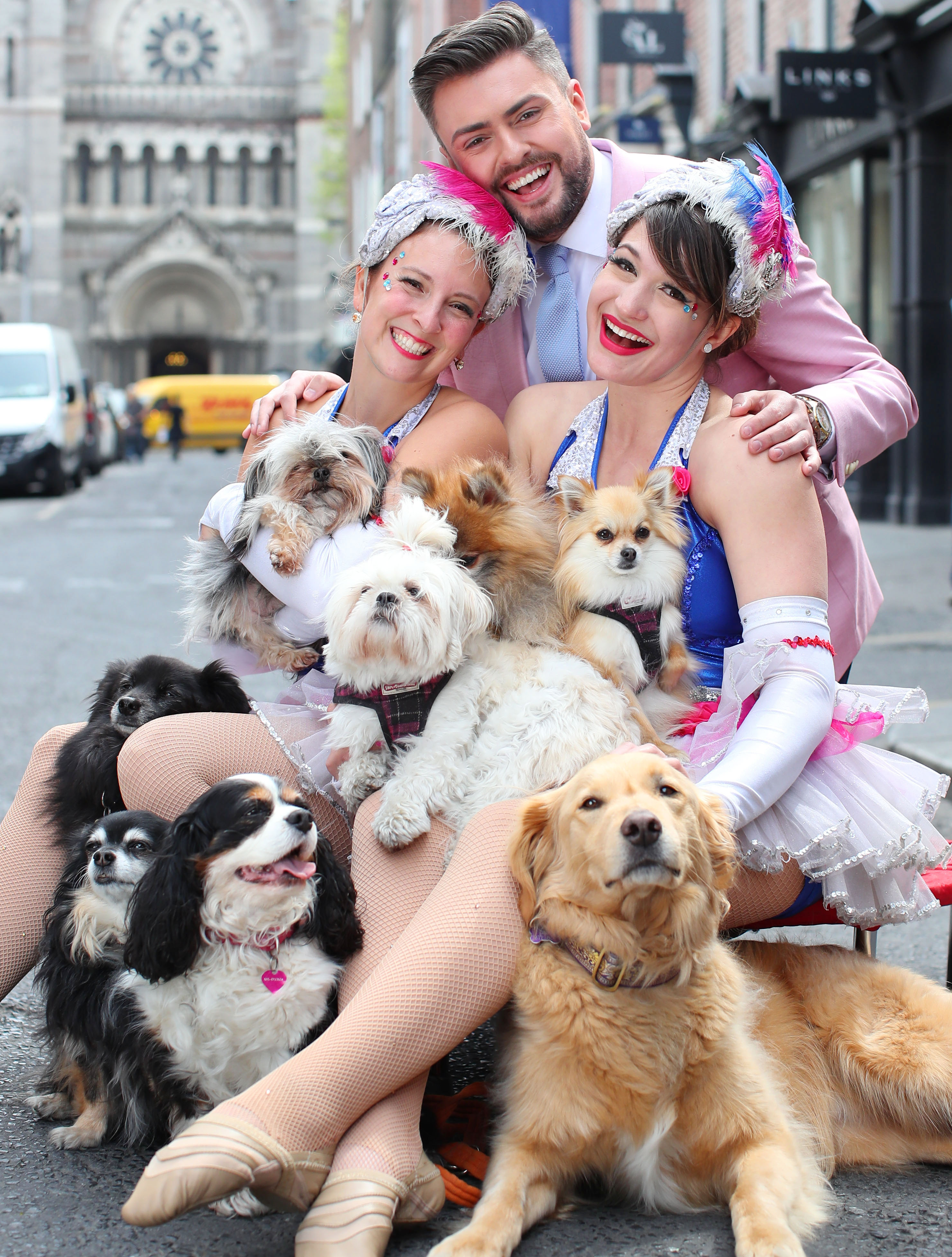 Social media superstar James Patrice with The Silver Starlets & official festival charity partner DSCPA and Purina's furry friends who will be joined by Cork's CSPCA bringing doggy delights such as the Scruffs dog show and dog agility to the festival