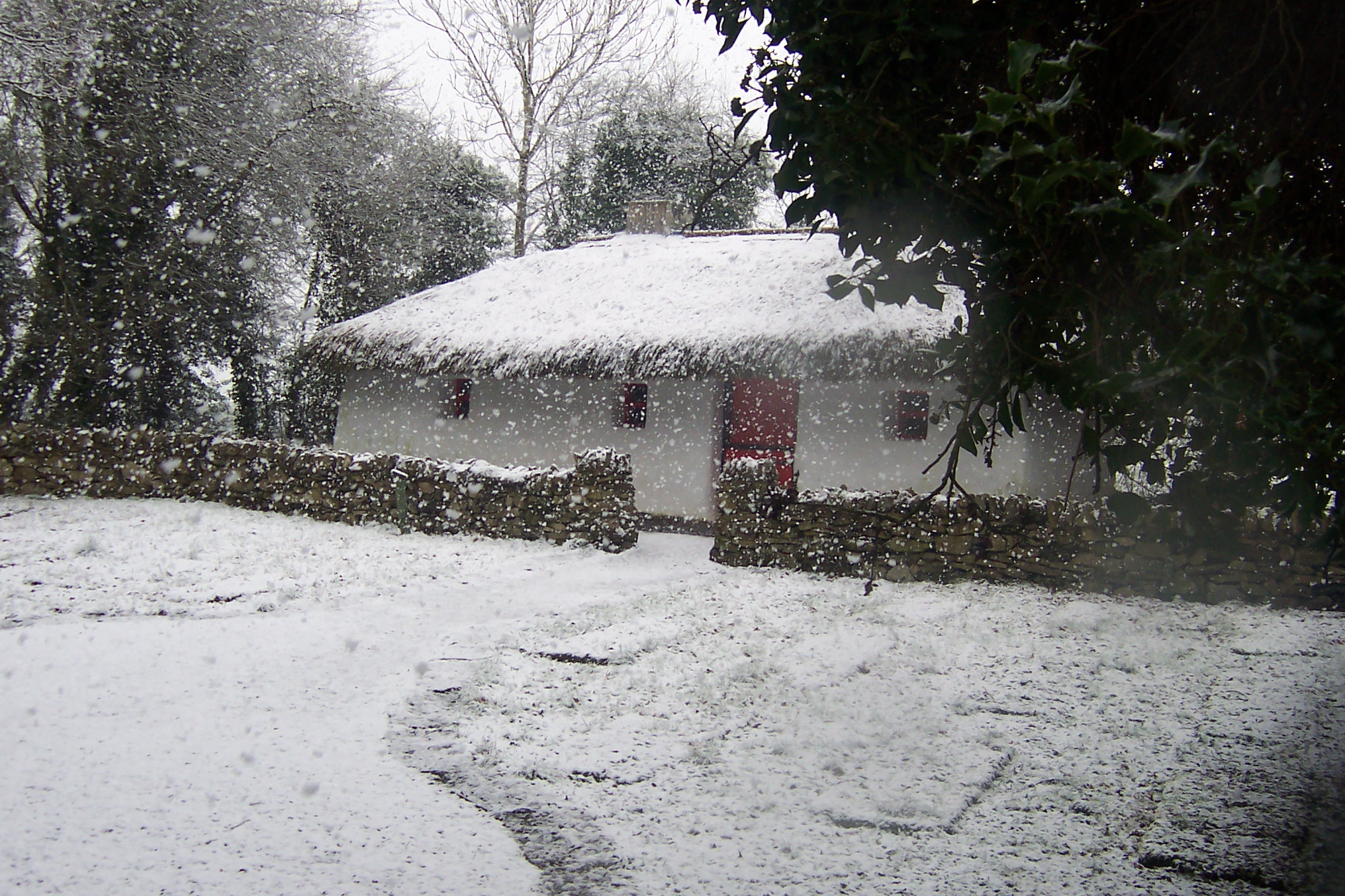 Lullymore Cottage in Snow