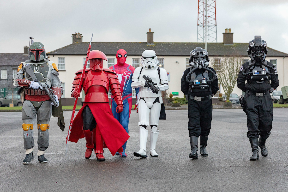 Stormtroopers using the force of the festival at Yulefest Kilkenny