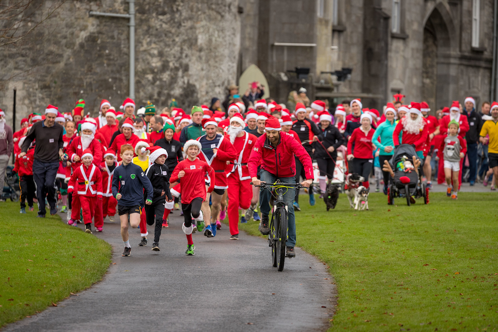 Annual Santa Run at Kilkenny Castle during Yulefest Kilkenny