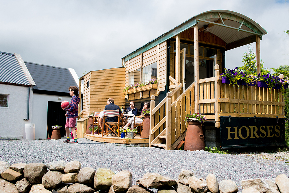 Burren Glamping - accommodation in a vintage horse truck, skillfully converted with comfortable beds, warm stove and shower and toilet. A haven to relax and recharge and maybe stargaze at night.