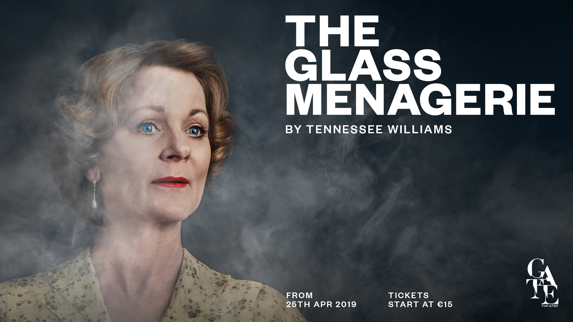 Samantha Bond as Amanda Wingfield in the Gate Theatre's production of The Glass Menagerie. Image shot by Gillian Hyland.