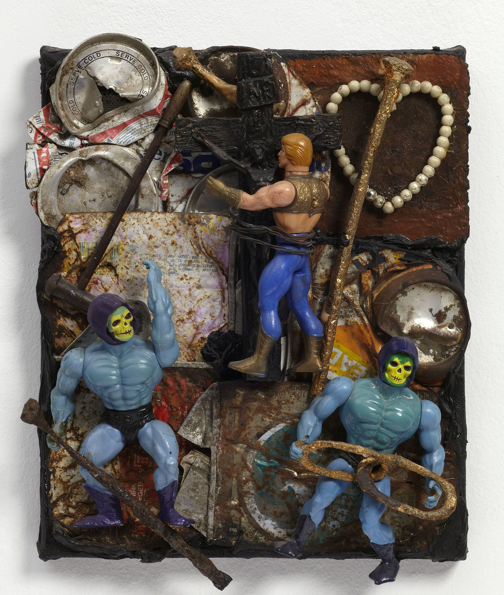 Derek Jarman, I.N.R.I., 1988, oil and mixed media on canvas, 33.5 x 27 x 8.5 cm, Courtesy of Keith Collins Will Trust and Amanda Wilkinson Gallery, London