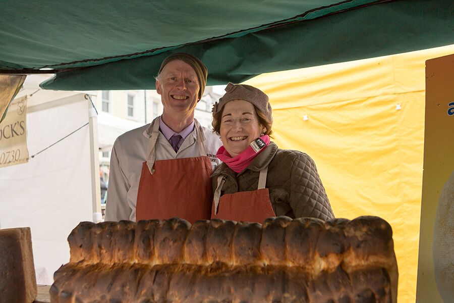 Chat to Joe and Esther Barron about baking bread in their scotch brick ovens and taste their wares, including Waterfords Blaa
