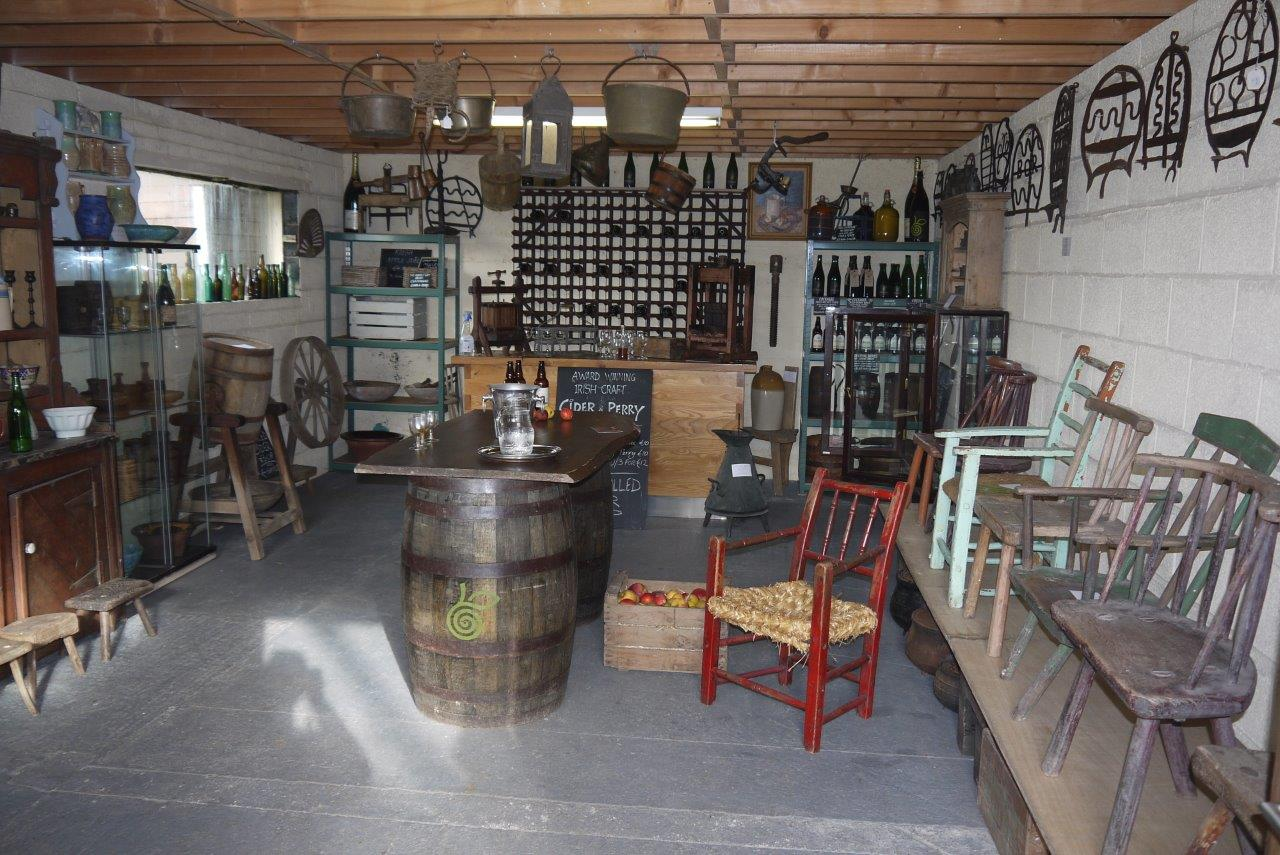 Tasting room and museum display
