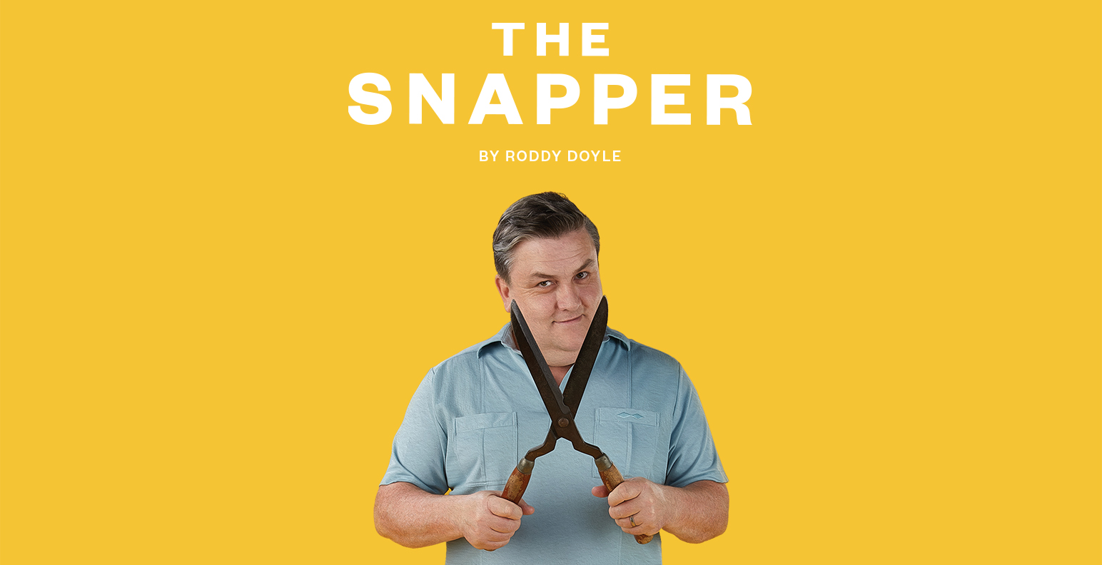 Simon Delaney reprising his role as Jimmy Rabbitte in The Snapper.