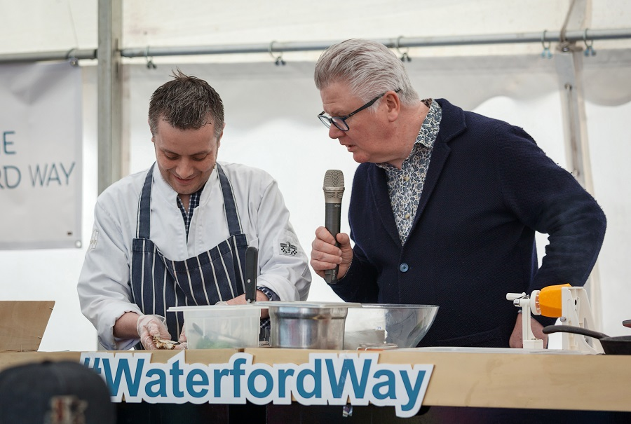 Shane McGrath and Paul Flynn just two of our great chefs here in Waterford who love cooking with the great local ingredients